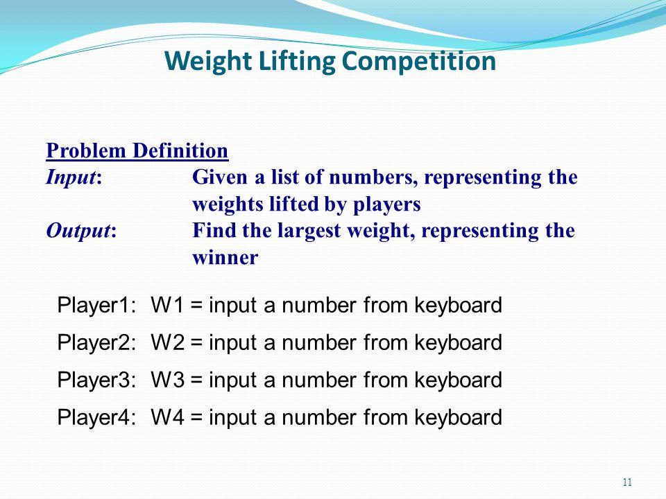 Algorithm 1 (Flowchart) W1 > W2 .W1 > W3 . Yes W3 > W4 .