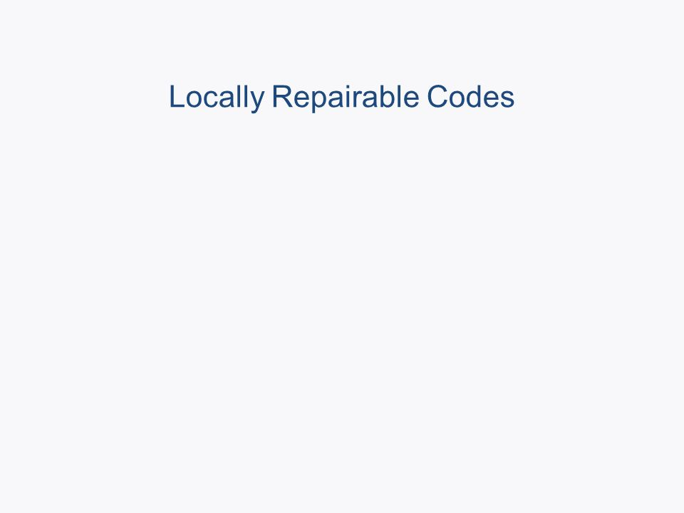 Locally Repairable Codes