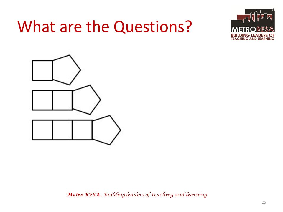 Metro RESA...Building leaders of teaching and learning What are the Questions? 25