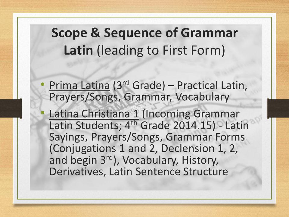 Grammar Latin