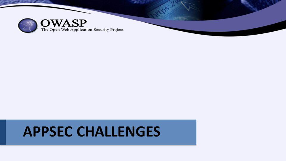 APPSEC CHALLENGES