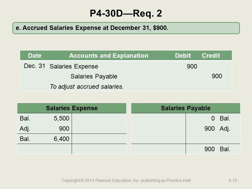 Copyright © 2014 Pearson Education, Inc. publishing as Prentice Hall4-15 e.