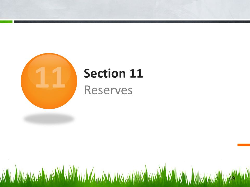 Section 11 Reserves 11 49