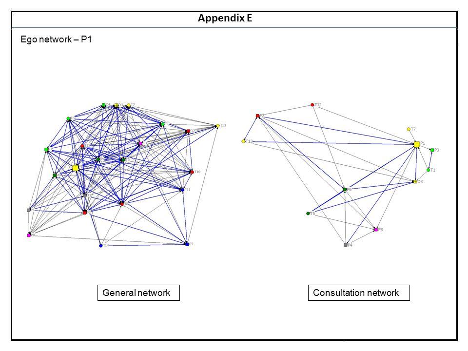 Notes 14 Appendix E Ego network – P1 General networkConsultation network