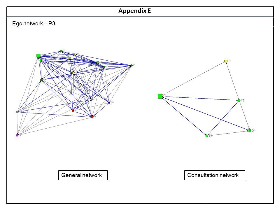 Notes 16 Appendix E Ego network – P3 General networkConsultation network