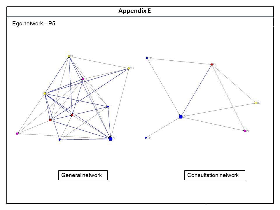 Notes 18 Appendix E Ego network – P5 General networkConsultation network