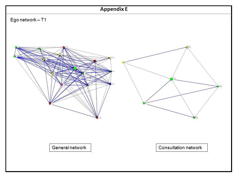 Notes 23 Appendix E Ego network – T1 General networkConsultation network