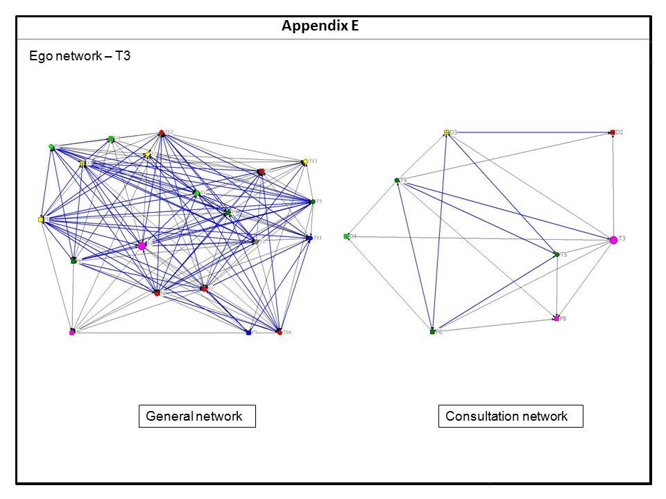 Notes 25 Appendix E Ego network – T3 General networkConsultation network