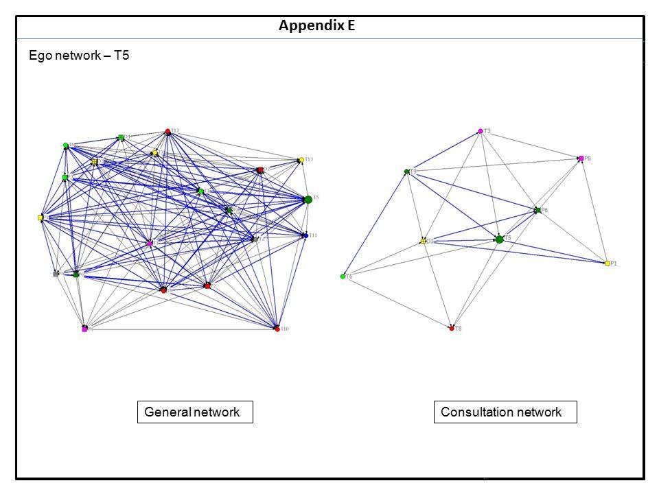 Notes 26 Appendix E Ego network – T5 General networkConsultation network