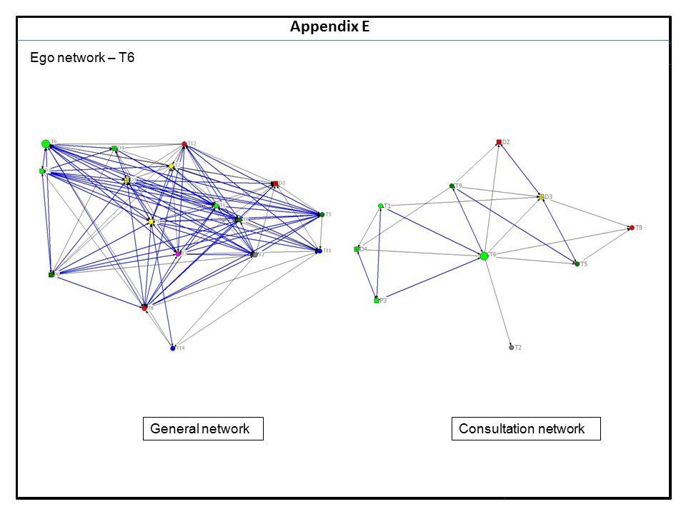 Notes 27 Appendix E Ego network – T6 General networkConsultation network