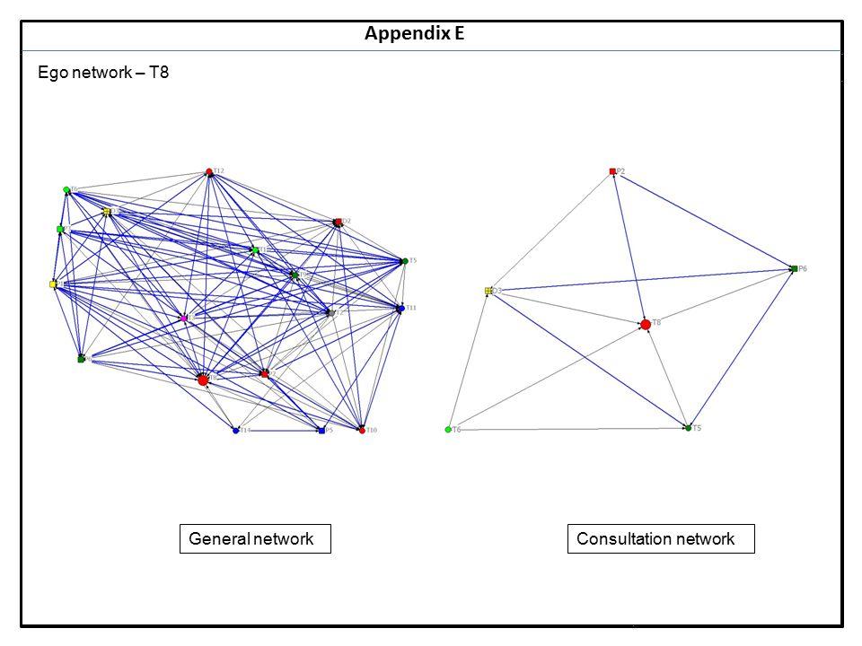 Notes 29 Appendix E Ego network – T8 General networkConsultation network