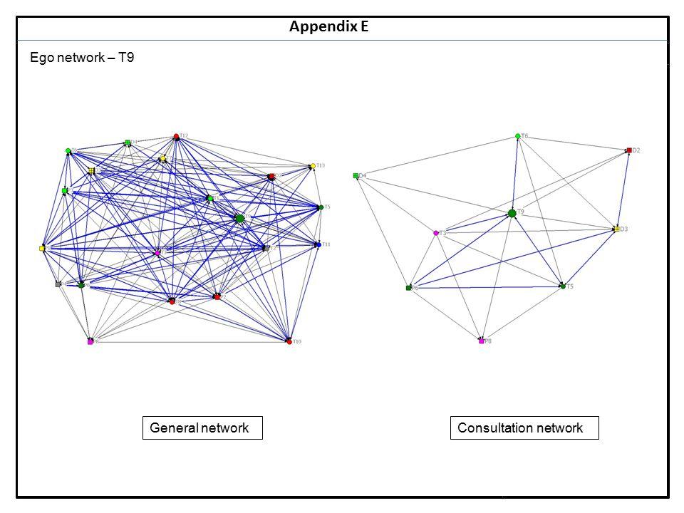 Notes 30 Appendix E Ego network – T9 General networkConsultation network
