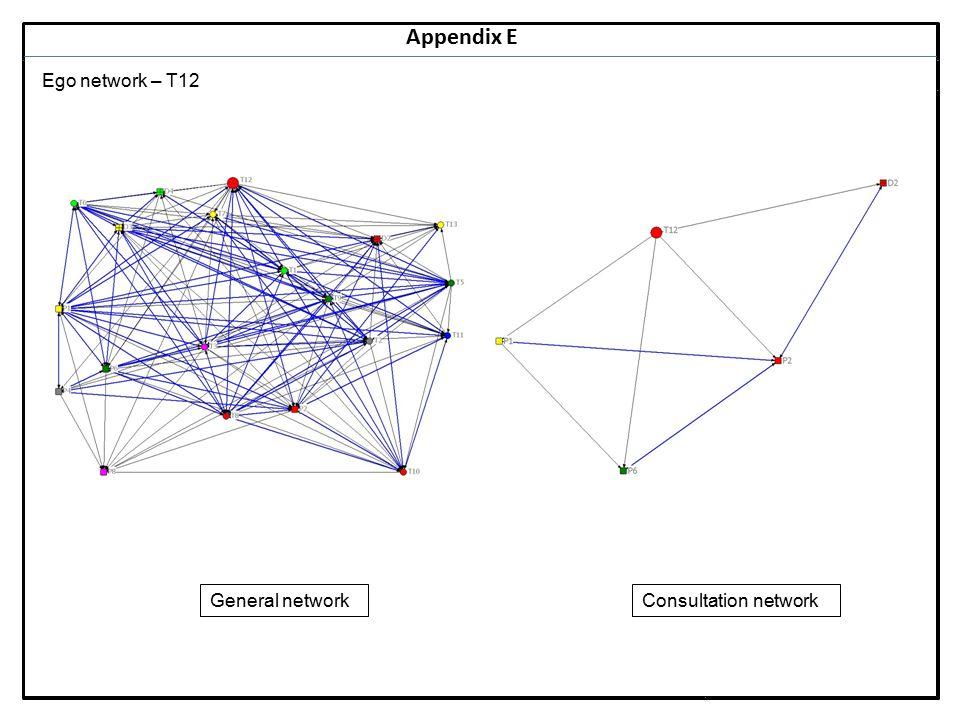 Notes 33 Appendix E Ego network – T12 General networkConsultation network