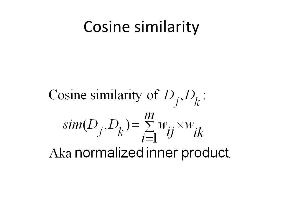 Cosine similarity