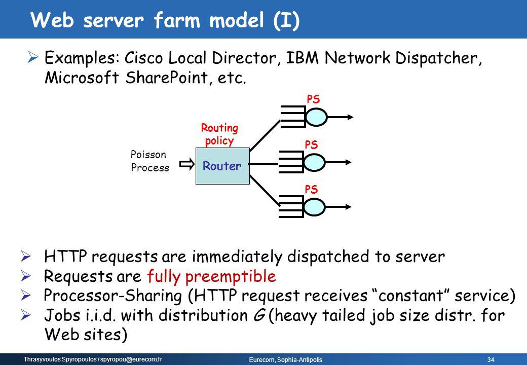 Thrasyvoulos Spyropoulos / spyropou@eurecom.fr Eurecom, Sophia-Antipolis  Examples: Cisco Local Director, IBM Network Dispatcher, Microsoft SharePoin