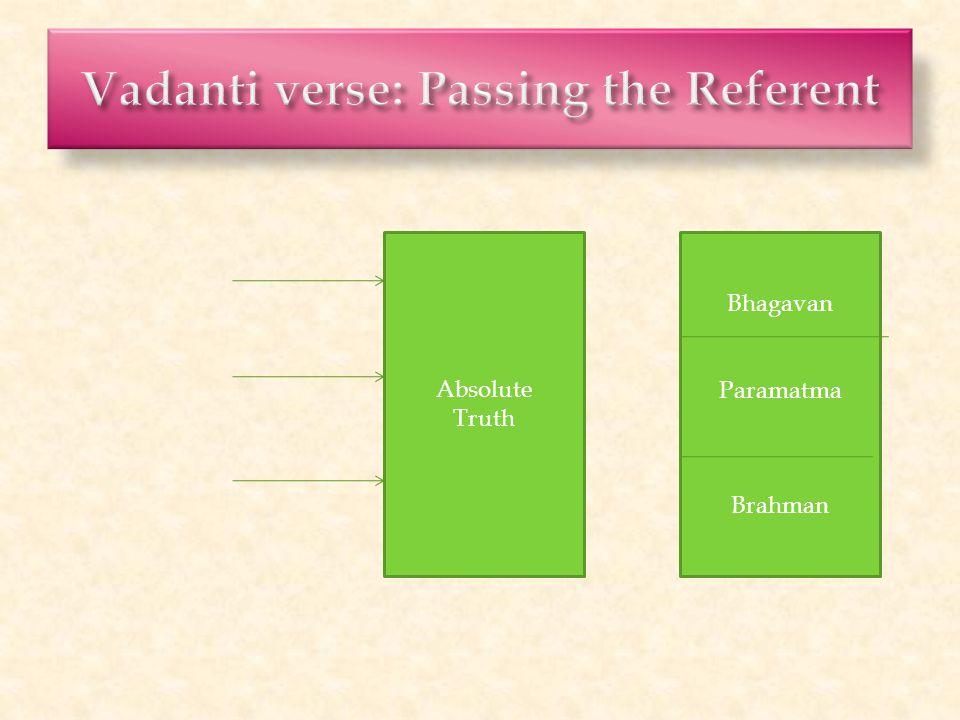 Absolute Truth Bhagavan Paramatma Brahman