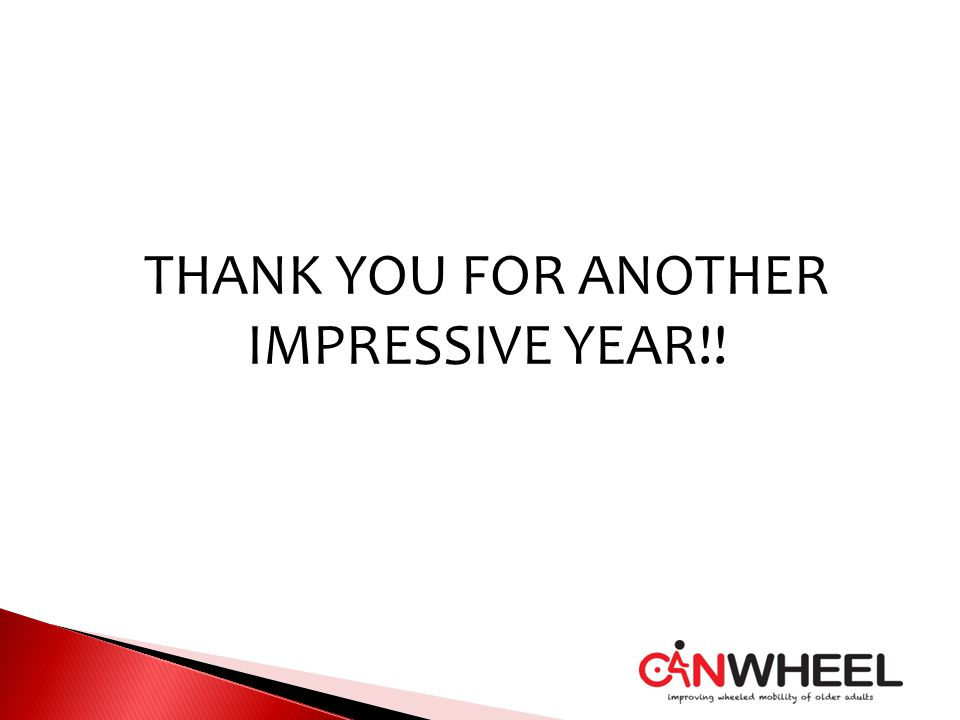 THANK YOU FOR ANOTHER IMPRESSIVE YEAR!!