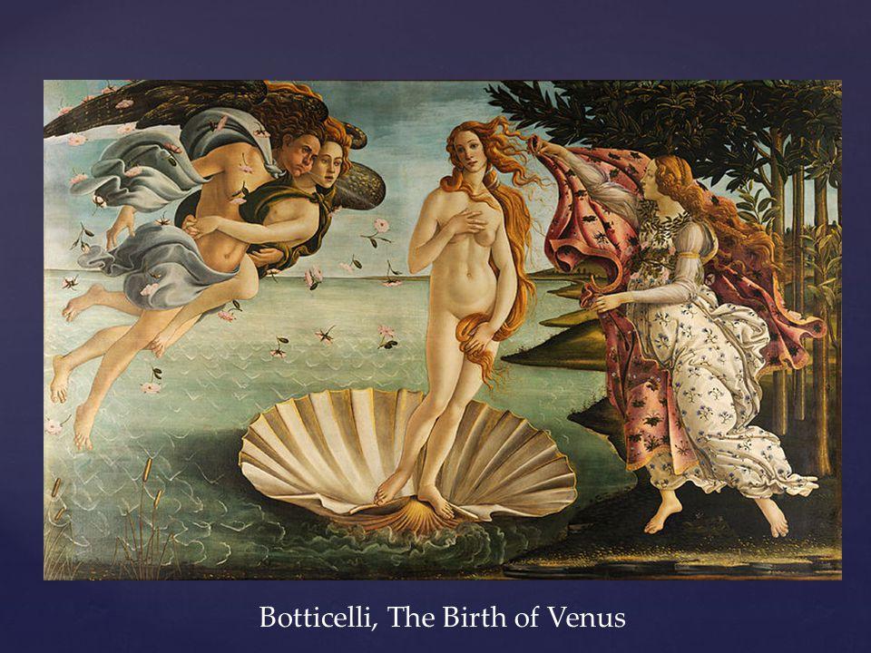 Botticelli, The Birth of Venus