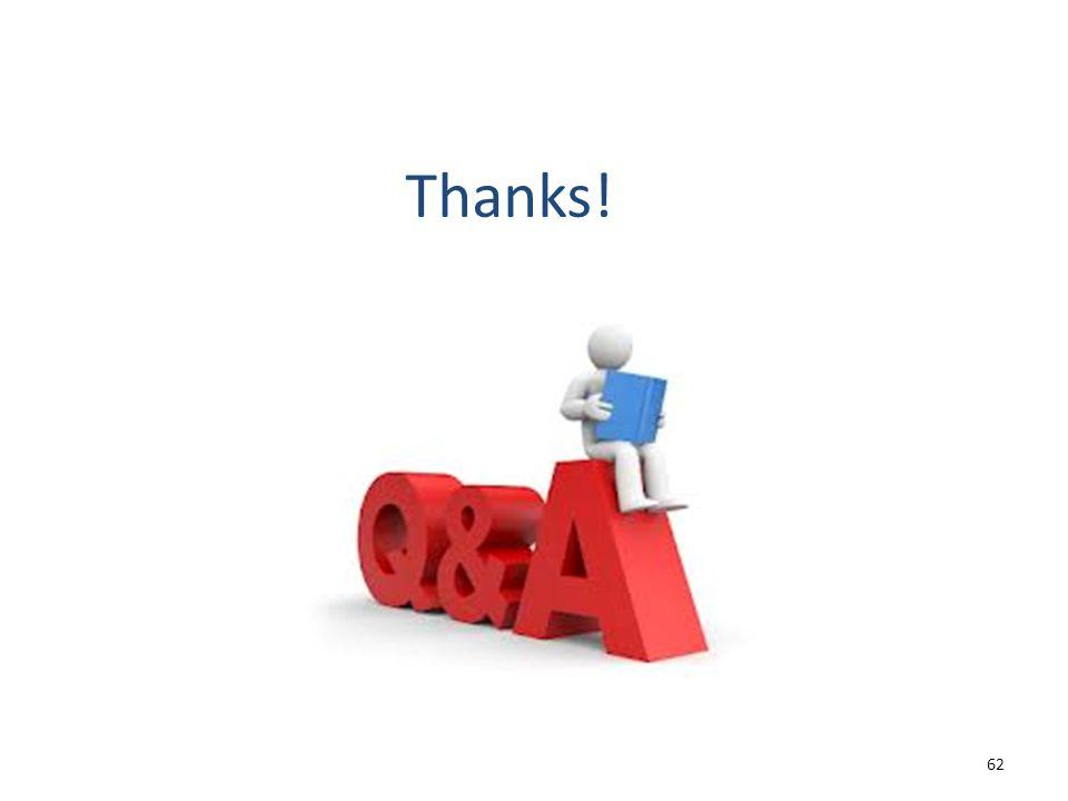 Thanks! 62