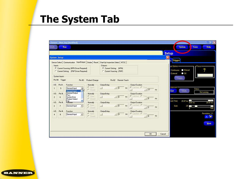 The System Tab