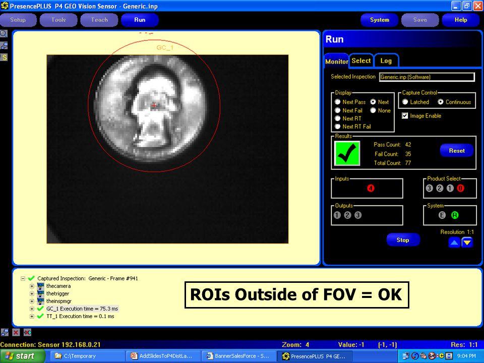ROIs Outside of FOV = OK