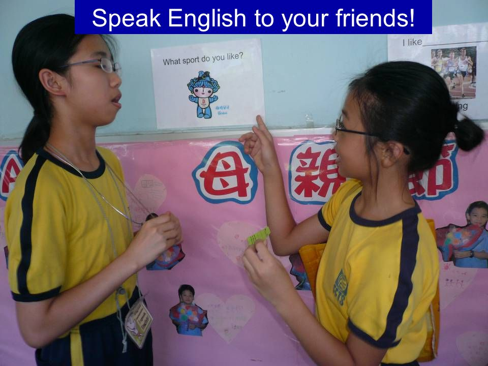 QH4 Speak English to your friends!