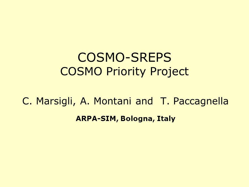 COSMO-SREPS COSMO Priority Project C. Marsigli, A.