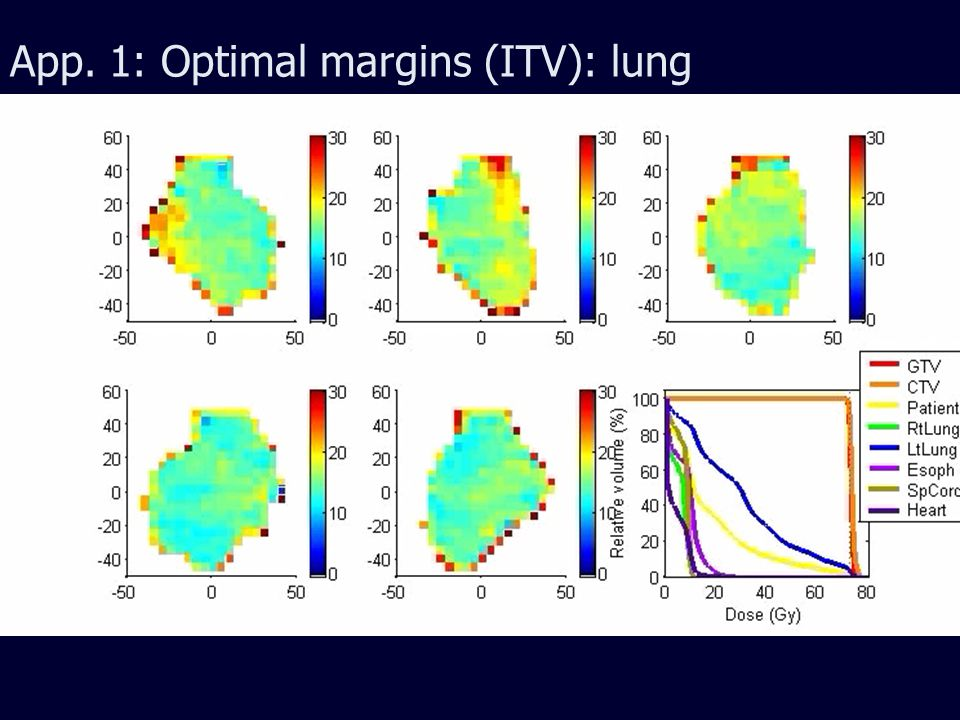 App. 1: Optimal margins (ITV): lung