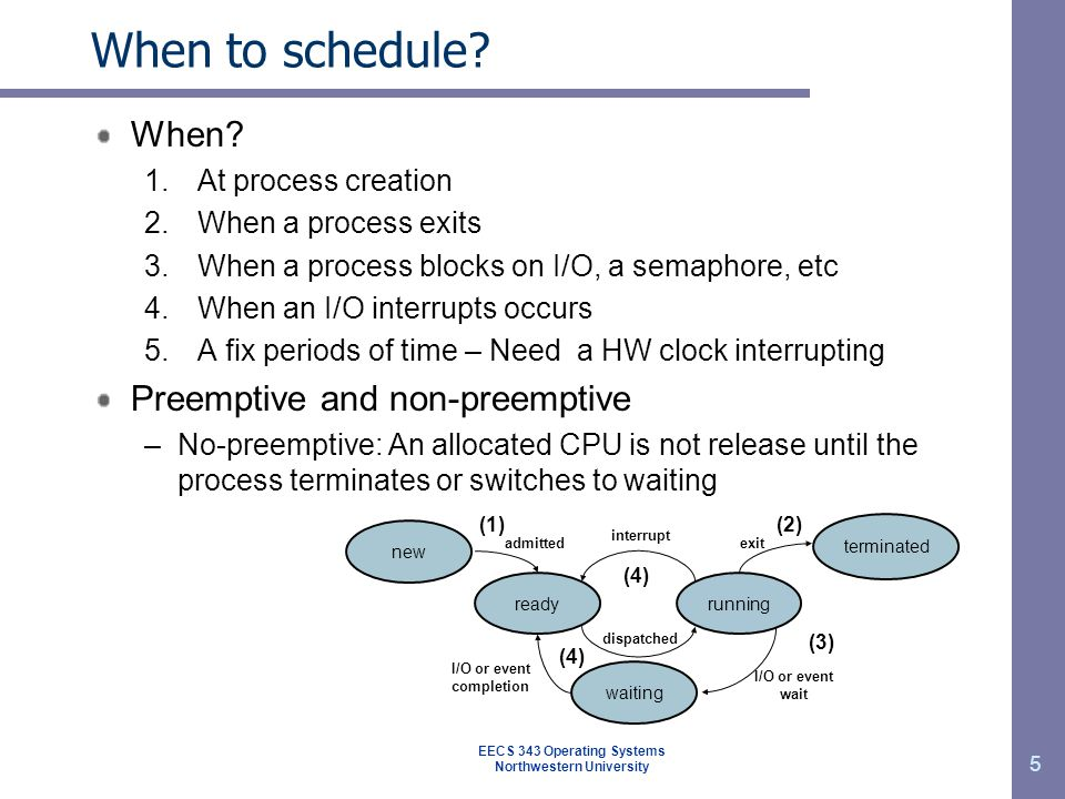 16 Round-robin scheduling Simple, fair, easy to implement, & widely-used Each process gets a fix quantum or time slice When quantum expires, if running preempt CPU With n processes & quantum q, each one gets 1/n of the CPU time, no-one waits more than (n-1) q P1P1 P2P2 P3P3 P1P1 P1P1 P1P1 P1P1 P1P1 047101418222630 ProcessBurst Time P124 P23 P33 q = 4 avg.