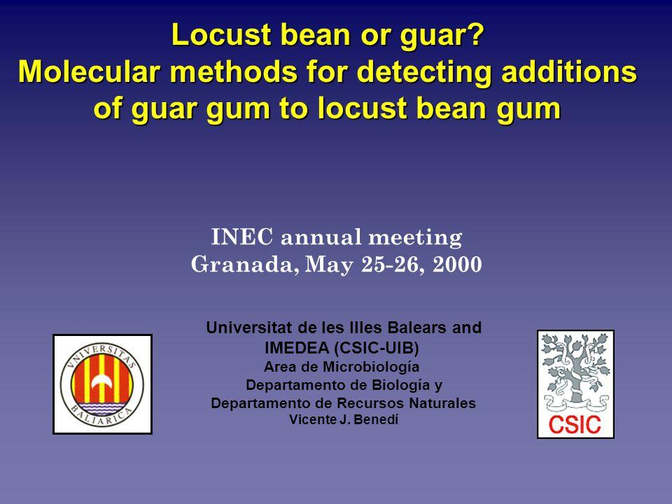 INEC annual meeting Granada, May 25-26, 2000 Universitat de les Illes Balears and IMEDEA (CSIC-UIB) Area de Microbiología Departamento de Biología y Departamento de Recursos Naturales Vicente J.