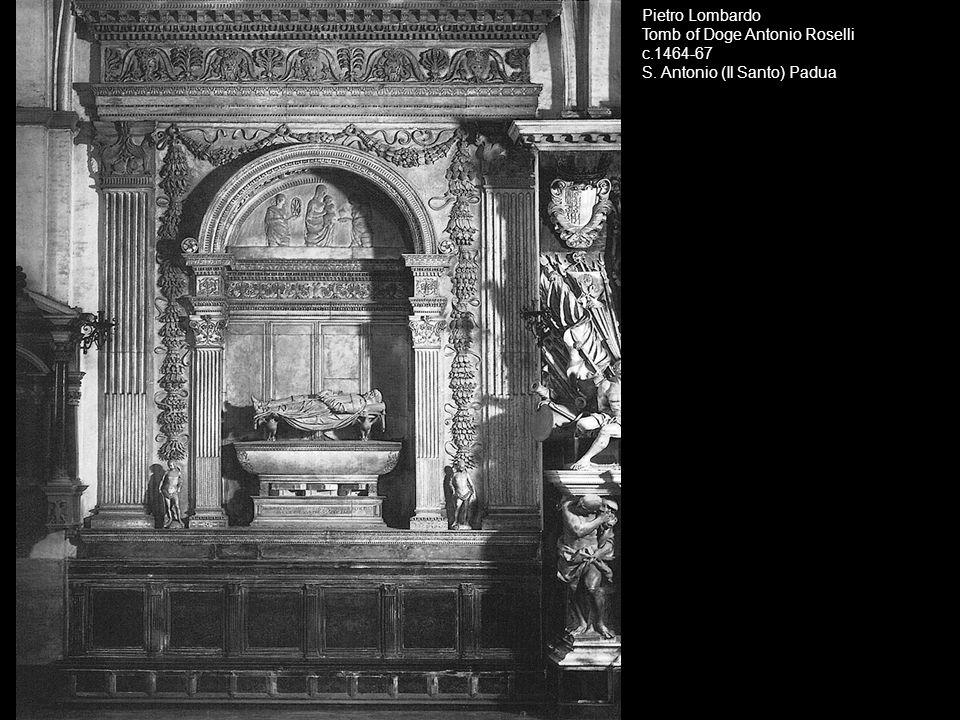 Desiderio da Settignano, Tomb of Carlo Marsuppini, after 1453, (white and colored marbles, traces of gilding and paint), S.