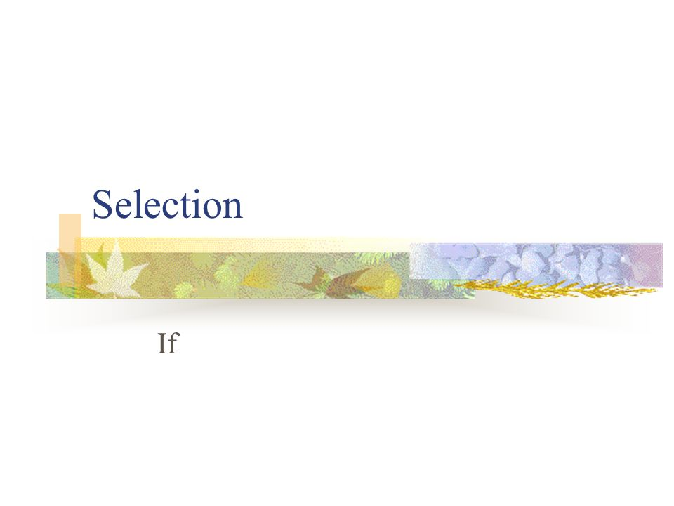 Selection If