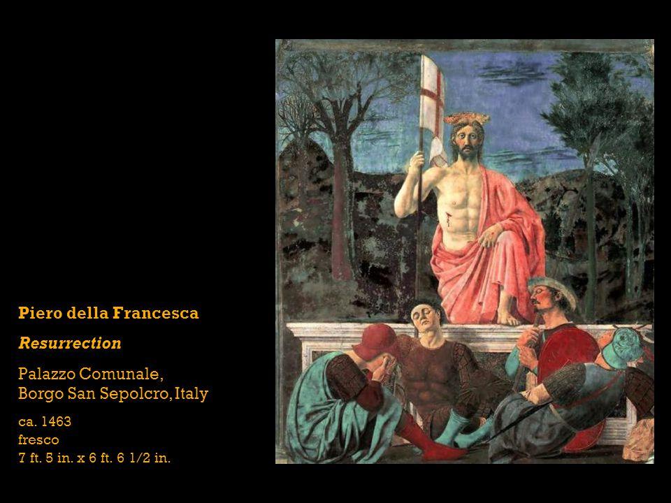 Piero della Francesca Resurrection Palazzo Comunale, Borgo San Sepolcro, Italy ca.