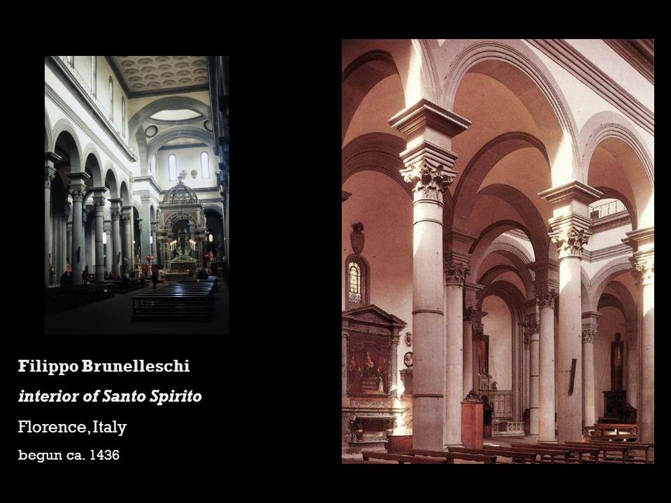 Filippo Brunelleschi interior of Santo Spirito Florence, Italy begun ca. 1436