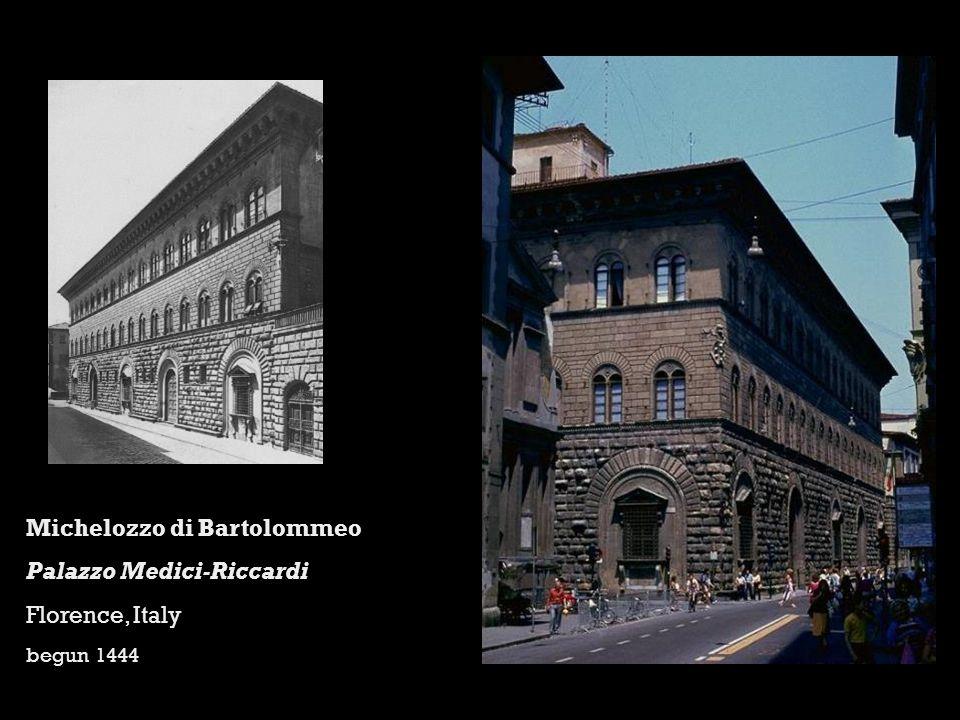Michelozzo di Bartolommeo Palazzo Medici-Riccardi Florence, Italy begun 1444