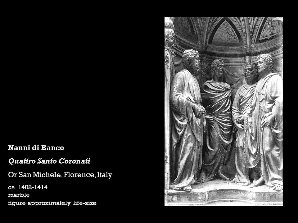 Nanni di Banco Quattro Santo Coronati Or San Michele, Florence, Italy ca.