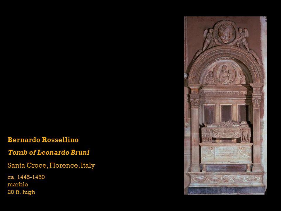 Bernardo Rossellino Tomb of Leonardo Bruni Santa Croce, Florence, Italy ca.