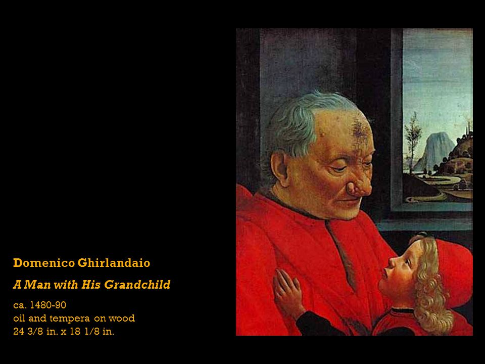 Domenico Ghirlandaio A Man with His Grandchild ca.
