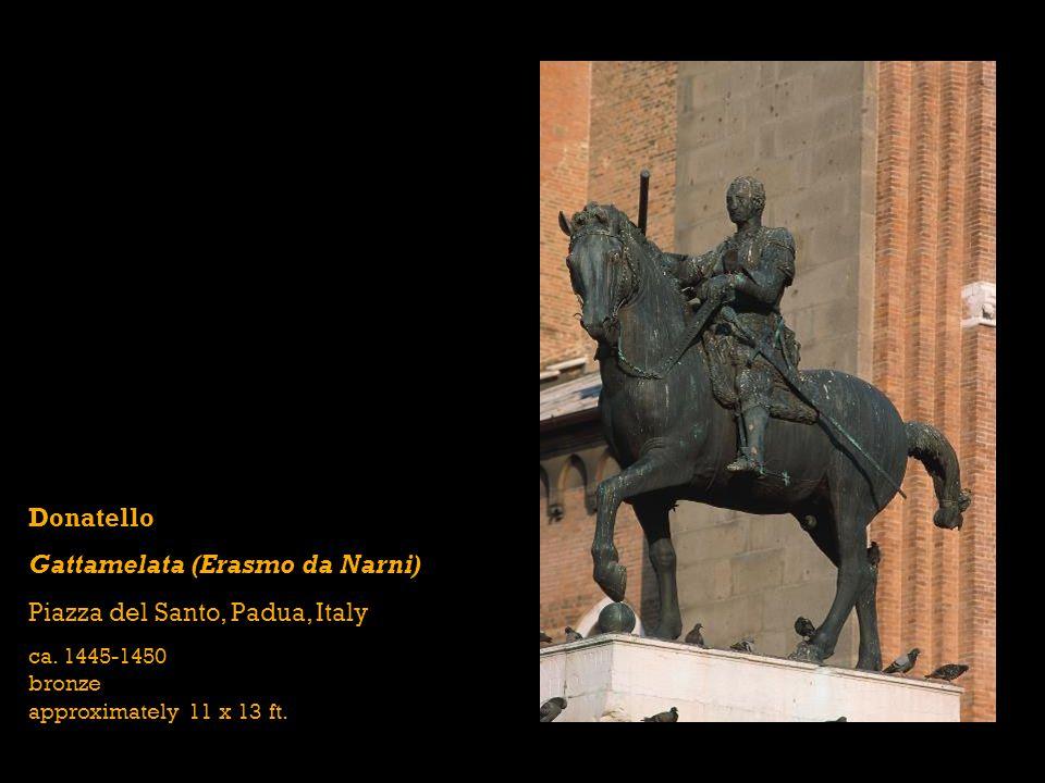 Donatello Gattamelata (Erasmo da Narni) Piazza del Santo, Padua, Italy ca.