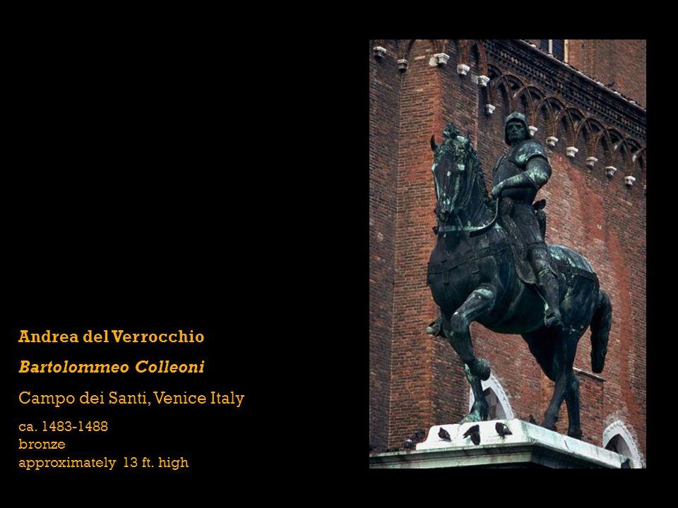 Andrea del Verrocchio Bartolommeo Colleoni Campo dei Santi, Venice Italy ca.