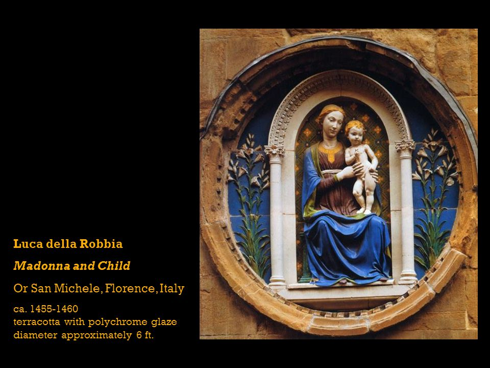 Luca della Robbia Madonna and Child Or San Michele, Florence, Italy ca.