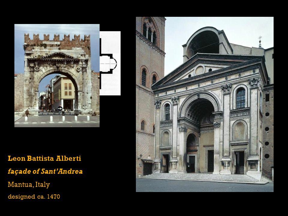 Leon Battista Alberti façade of Sant'Andrea Mantua, Italy designed ca. 1470