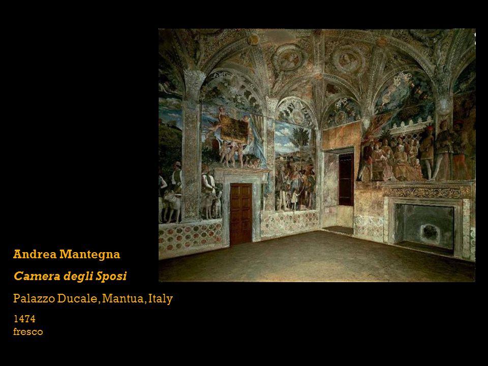 Andrea Mantegna Camera degli Sposi Palazzo Ducale, Mantua, Italy 1474 fresco