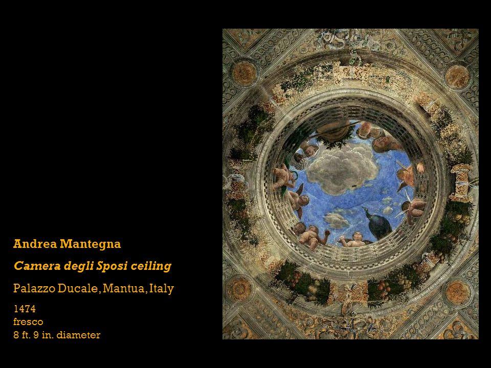 Andrea Mantegna Camera degli Sposi ceiling Palazzo Ducale, Mantua, Italy 1474 fresco 8 ft.