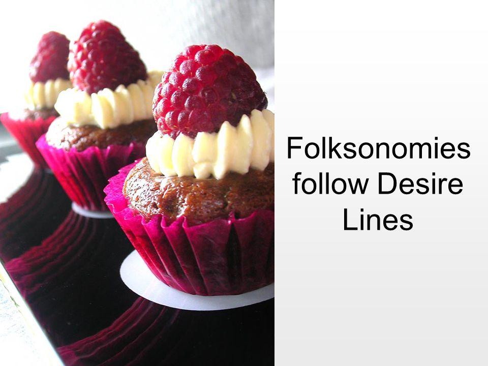 Folksonomies follow Desire Lines