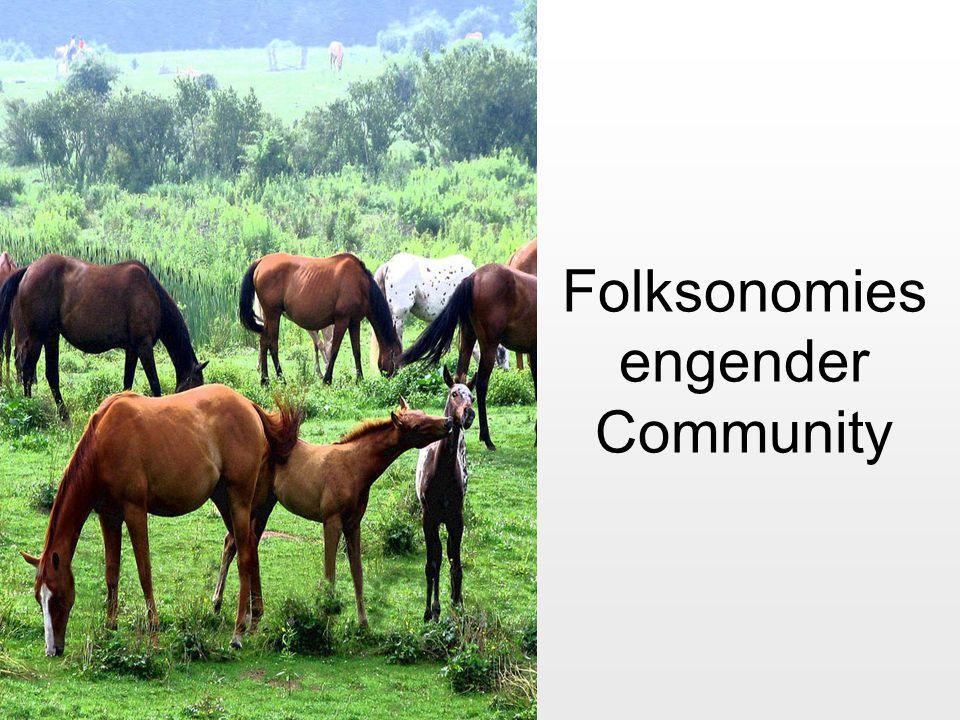 Folksonomies engender Community