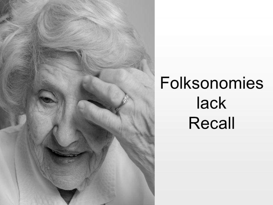 Folksonomies lack Recall