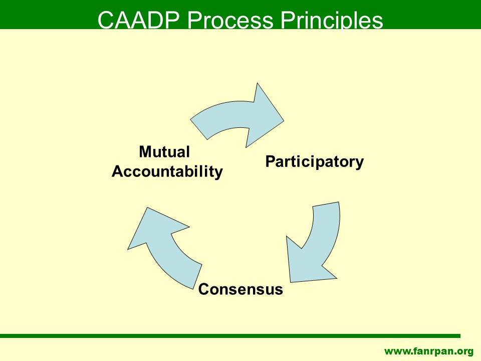 www.fanrpan.org CAADP Process Principles Participatory Consensus Mutual Accountability