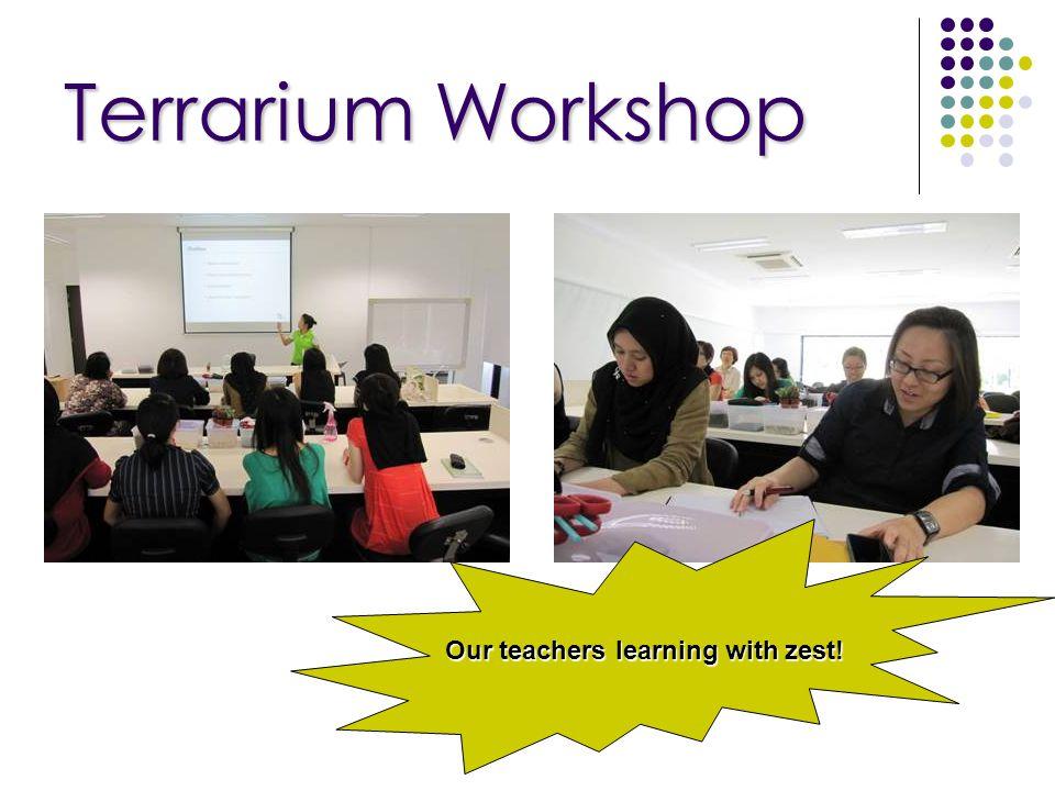 Terrarium Workshop Our teachers learning with zest!