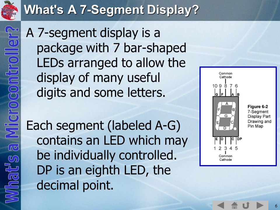 6 What s A 7-Segment Display.